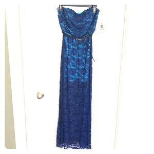Honey and Rosie blue lace dress size Small